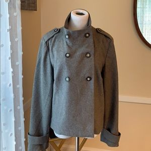 Gap Large/Lined Wool Blend Coat Gray in EUC
